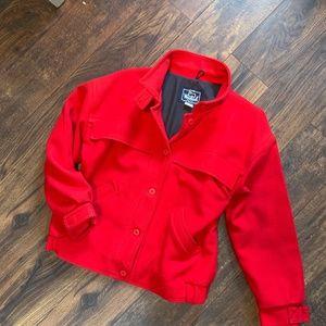 Woolrich Women's Wool Car Coat Large Red